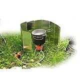 Easy Go Shopping 10 STÜCKE Camping Picknick Im Freien Tragbarer Herd Paravent Aluminium Windschutzscheibe Camping