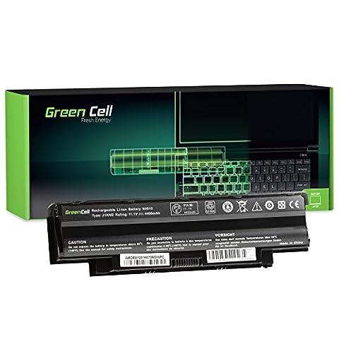 Green Cell® Standard Série J1KND Batterie pour Dell Inspiron 15R N5010 N5030 N5050 / Q15R N5110 / 17R N7010 N7110 / 15 3520 Ordinateur PC Portable (6 Cellules 4400mAh 11.1V Noir)
