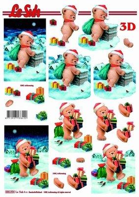 Weihnachtsbärchen (680.054) - 3D Stanzbogen