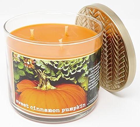 Bougie Parfumée Bath & Body Works à 3 Mèches - Sweet Cinnamon Pumpkin