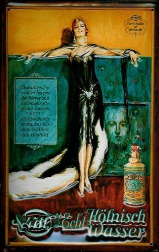 plaque-en-tole-nostalgie-enseigne-4711-madame-robe-noir-eau-de-cologne-parfum-enseigne-publicitaire