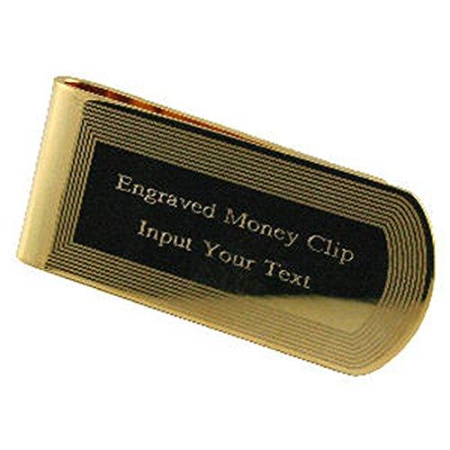 Select Gifts Edge Geldklammer Gold-Ton eingraviert in Meldung