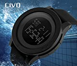 CIVO-Mens-Digital-Military-Sports-Watch-Big-Face-Business-Casual-5ATM-Waterproof-Watches-for-Men-Rubber-Led-Simple-Citizen-Sport-Watch-Black