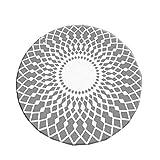 Designer Einfache Moderne Runde Teppich Wohnzimmer Schlafzimmer Studie Garderobe Teppich Computer Stuhl Pad hängenden Korb Pad persische Muster | 0,5 cm dick Heimtextilien (größe : Diameter 180CM)