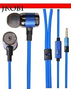 Jkobi Fashionable Crisp Clear Music Stereo Earphone Headset Compatible For Xolo A1010 -Persian Blue