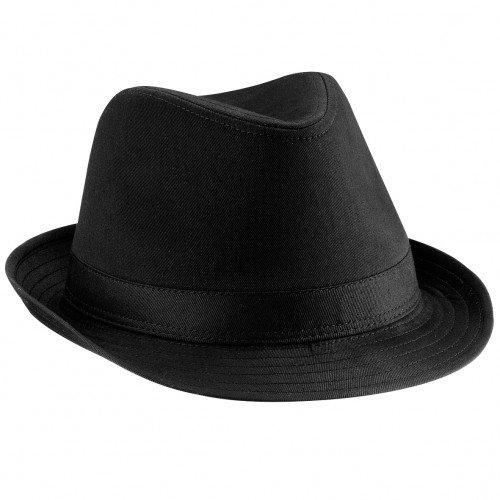 Beechfield - Sombrero fedora (unisex) negro negro Talla L XL 15810b06d79