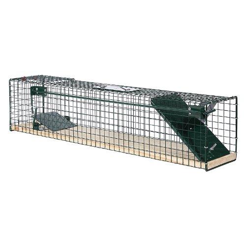Moorland trappola cattura animali vivi safe 6042 - 80x15x19 pavimento in legno gabbia per cattura di ratti volpini gatti