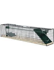 Trampa para animales vivos 80x15x19 cm - 1 Entrada - Suelo de madera modelo 6042 - Sin Feromona