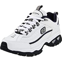 Skechers Sport Men's Energy Afterburn Lace-Up Sneaker,White/Navy,9.5 XW US