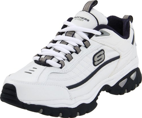 Skechers Sport Men's Energy Afterburn Lace-Up Sneaker,XWhite/Navy,6.5 XW US