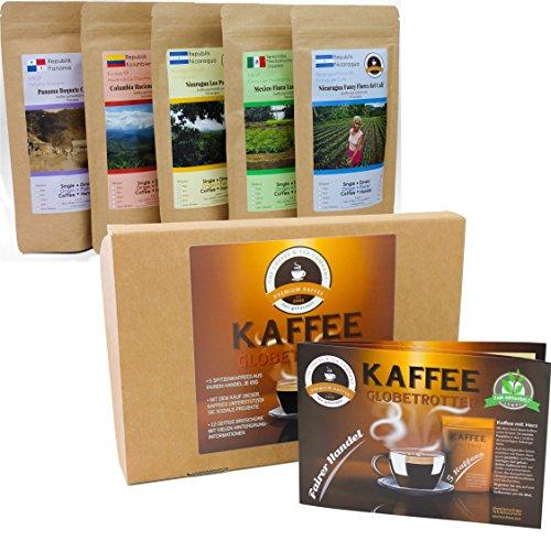 Kaffee Globetrotter - Kaffee Mit Herz Box - Gemahlen - für Kaffee-Filter-Maschine, Handfilter,...