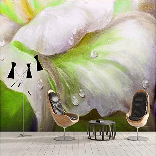 BIZHIGE Hot Wallpaper Beautiful Flower Fondos De Pantalla para El Hogar Popular Wallpapers Dormitorio Decoración De La Pared Ideas Decoración Moderna Sala De Estar Ideas-250 × 160Cm