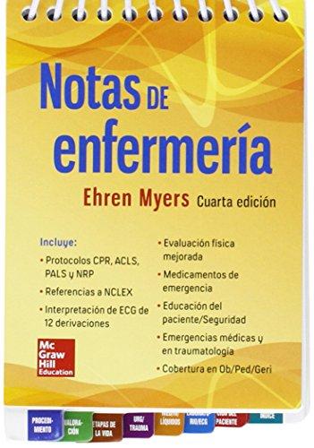 NOTAS DE ENFERMERIA 4'ED por Ehren Myers