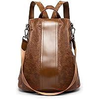 Gestickte Weibliche Tasche Schaffell Student Rucksack Damen Personalisierte Trend Handtasche,Black-OneSize Laidaye