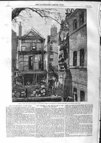DÉCOMPOSITION 1859 MORTELLE de SCÈNE BIRMINGHAM MOOR-STREET [Cuisine et Maison] par original old antique victorian print