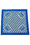 Bavariashop Tischdecke Bayern, 80 x 80 cm, Rauten, 100 % Baumwolle, Blau Weiß, Bayern Wappen, Picknickdecke