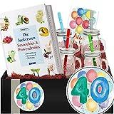 40. Geburtstag | Geschenkpaket Smoothies + Shakes | Geschenk 40 Geburtstag Frau