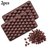 JUSTDOLIFE 2PCS Schokoladen Form Essen Klasse Kreatives Silikon Kaffeebohnen Form Back Form