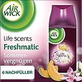 Air Wick Freshmatic Max Nachfüller Sommervergnügen, automatisches Duftspray, Nachfüller für automatischen Lufterfrischer, 6 x 250ml