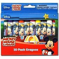 Preisvergleich für Disney Mickey & Minnie Jumbo Wachsmalstifte in Box - 10 Stück