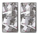 20 Taschentücher (2x 10) Euro / Geld / Geldscheine / Motivtaschentücher
