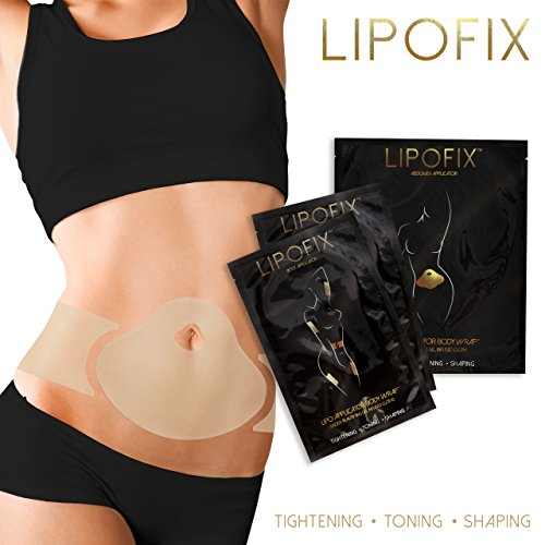 LipoFix ultimo corpo Wrap Lipo applicatore. funziona per la perdita del pollice Body Firming di sagoma modella 12 involucri set (4 + 4 Addome coppia (8 pezzi) Impacchi applicatori)