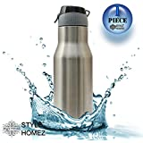 Style HomeZ Stainless Steel BPA Free Water Sports Sipper Bottle, 750ml (Silver)