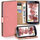 moex Samsung Galaxy S4 | Hülle Korall mit Karten-Fach 360° Book Klapp-Hülle Handytasche Kunst-Leder Handyhülle für Samsung Galaxy S4 / S IV Case Flip Cover Schutzhülle Tasche