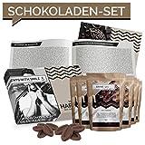 Schokolade Geschenkset 5 Schokoladen aus aller Welt Geschenkbox | Schoko Weltreise Geschenkidee Geschenke für Frauen Männer | Schokoladen Box Geburtstag Weihnachten