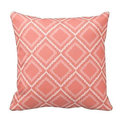 Corail rose carré Motif couvre-lit Couvre-lit décoratif taie d'oreiller Taie d'oreiller Taie d'oreiller Housse de coussin Motif fleur Housse de coussin design taie d'oreiller