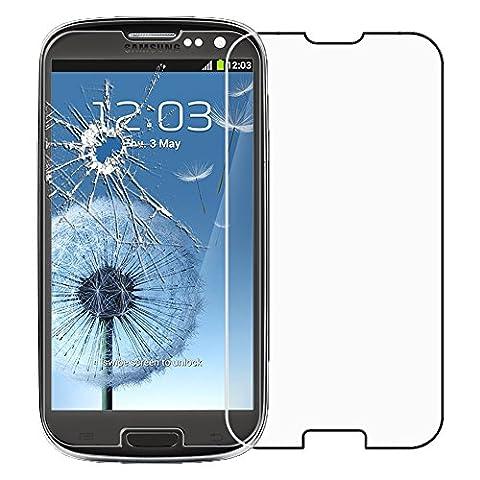ebestStar - pour Samsung Galaxy S3 i9300 i9305 - Film protection écran en VERRE Trempé - Vitre protecteur anti casse, anti-rayure [Dimensions PRECISES de votre appareil : 136.6 x 70.8 x 8.6 mm, écran 4.8
