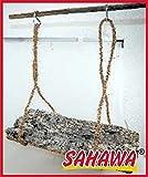 SAHAWA Korkschaukel für Sittiche, Papagei, Exoten, Vögel Naturkork Sitzstange