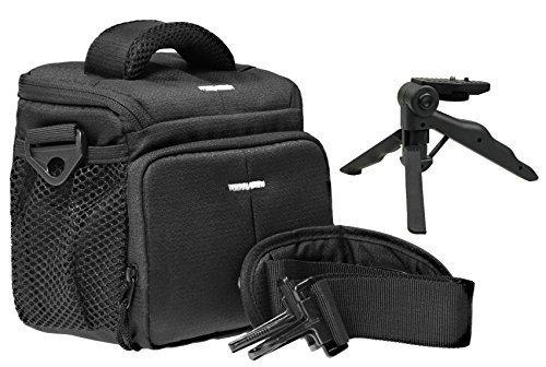 Foto Kamera Tasche ACTION BLACK M mit Tisch Stativ für Panasonic Lumix DMC- FZ1000 FZ300 FZ200 FZ72