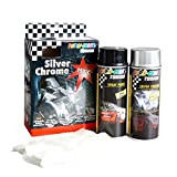 Dupli Color 674570 Tuning Lackspray Silver Chrome Set