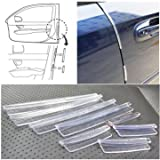 #3: Suveraan 8Pcs Clear Car Scratch Strip Protection Protectors Door Edge Guards Trim Molding