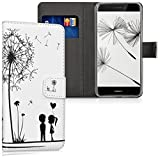 kwmobile Huawei P8 Lite (2017) Hülle - Kunstleder Wallet Case für Huawei P8 Lite (2017) mit Kartenfächern und Stand