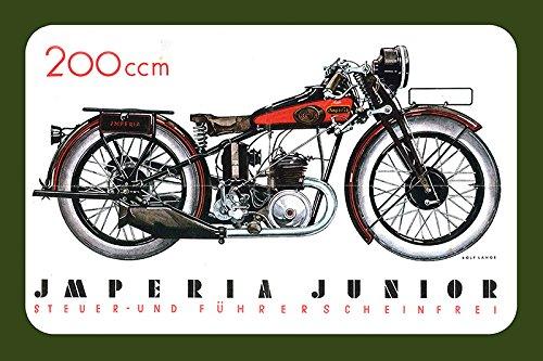 Imperia Junior 200ccm reklame motorrad, motor bike, motorcycle blechschild (Junior-bikes)