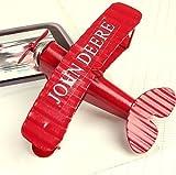 UChic 1 STÜCKE 10 CM Kleine Kreative Miniaturmodelle Retro Doppeldecker Modell Metall Flugzeugmodelle Blau Rot Flugzeug Modell Kinder Spielzeug Für Zuhause Ornamente Bei Farbe Nach Dem Zufall