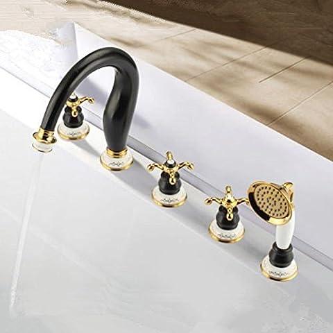 Modylee Nuova promozione prodotto acqua Saver lusso olio strofinato bronzo vasca Trim ORB 5 foro rubinetto miscelatore rubinetto per vasca con doccetta