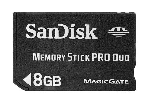 Sandisk sdmspd-8192-e11 memory stick pro duo 8192 mb