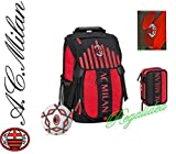 Sac à dos officiel AC MILAN école 2017/2018 + Trousse 3 plans plein + Journal + Ballon