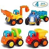 GoStock Auto Vehículos de Construcción, Paquete de 4 Juguetes