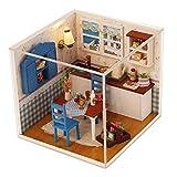 perfeclan 1/24 DIY Miniatur Holz Puppenhaus Küche mit Zubehör Kit