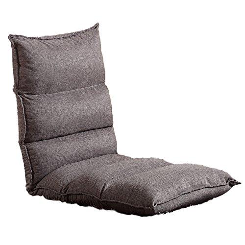 G-Y Sofa Paresseux, Chaise De Lit, Balcon Simple Petit Fauteuil Inclinable De Sofa (coton Et Toile) (Couleur : Gris)