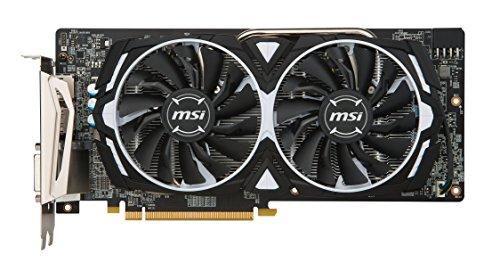 MSI AMD RX 580 ARMOR 8G OC 8 GB GDDR5 256-Bit Memory DVI/DP/HDMI PCI Express 3 Graphics Card – Black