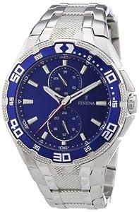 Reloj Festina F16663/3 de cuarzo para hombre, correa de acero inoxidable color plateado (agujas luminiscentes) de Festina