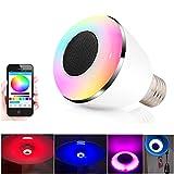 Smart Bulb,Aizbo® Wireless Bluetooth Music Smart Bulb Lamp E27 RGB LED Speaker Light Lamp Smart Bulb via Phone APP Control for iPhone IOS and Samsung Galaxy Android Smart Phone