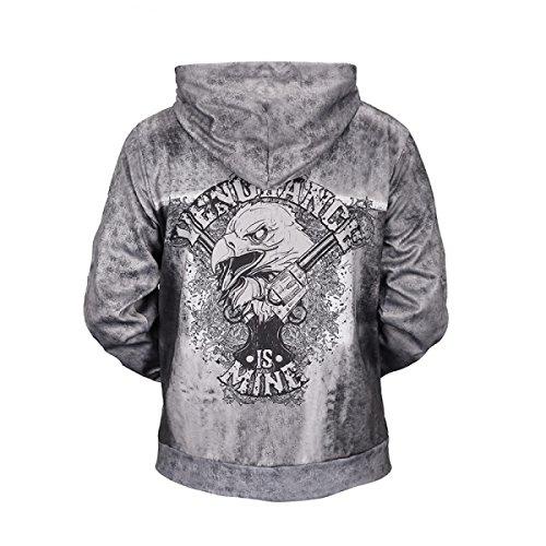 Sweat-shirts Unisexe 3D Prints Cardigan Zipper Pocket Respirant Sweat à Capuche à Motifs De Grande Taille OneColor