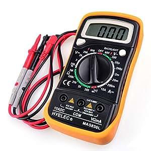HYELEC-MAS830L multimètre affichage LCD, testeur de tention AC DC, ohmmeter OHM