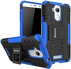 Bracevor Shockproof Coolpad Note 5 Hybrid Kickstand Back Case Defender Cover - Blue